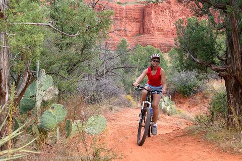 mountain biking near Bell Rock