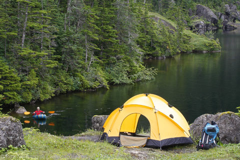 Backpacking, Culross Island, Prince William Sound, Chugach National Forest, Alaska