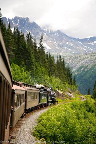 Tongass National Forest, Inside Passage, Alaska, Skagway, train