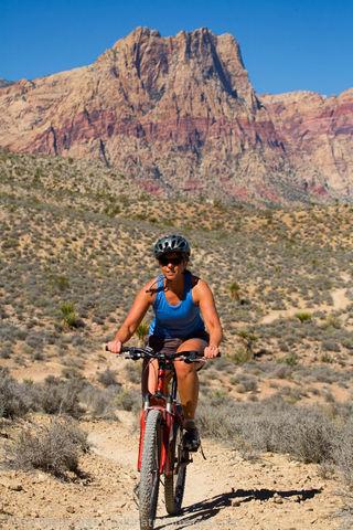 Mountain biking near Las Vegas, Nevada