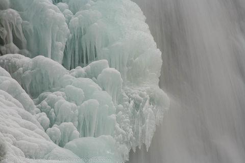 Frozen waterfall, Seward, Alaska