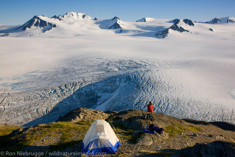 Backpacking by the Harding Icefield