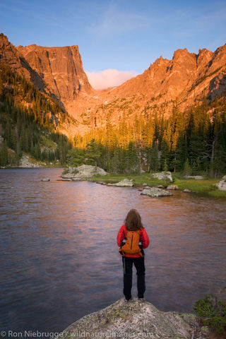 at Dream Lake, Rocky Mountain National Park