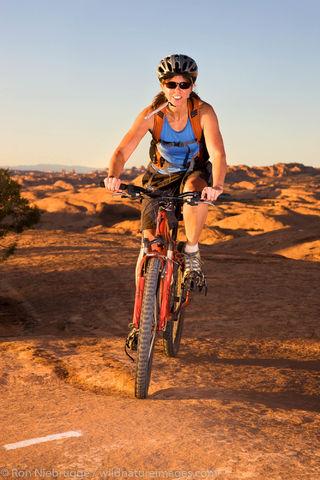 Mountain biking Slickrock Trail, Moab,
