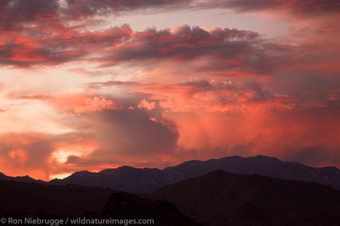 Sunset over Palm Desert, California