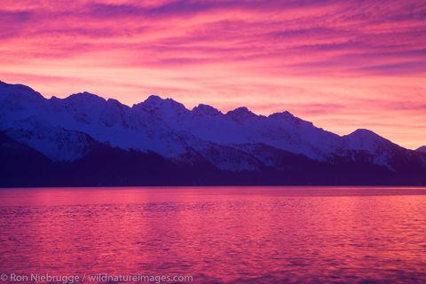 Resurrection Bay at sunrise, Seward, Alaska