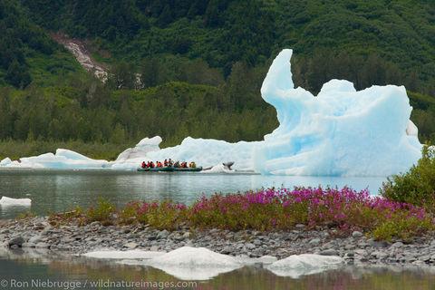 Rafting at the Spencer Glacier