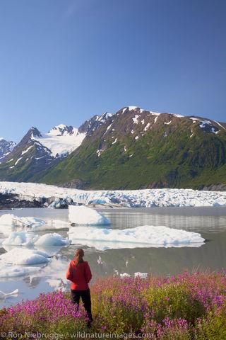 Hiker at the Spencer Glacier