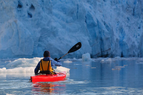 Kayaking in front of Barry Glacier