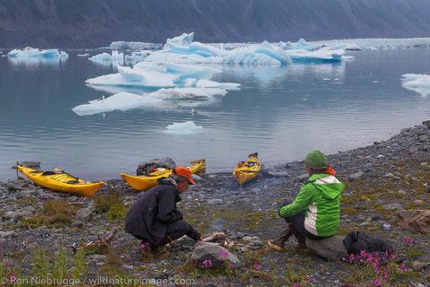 Camping in Bear Glacier Lagoon