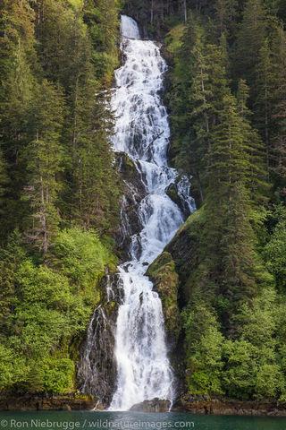 Tongass National Forest, Inside Passage, Alaska, waterfall