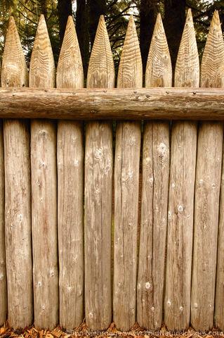Fence surrounding Fort Clatsop