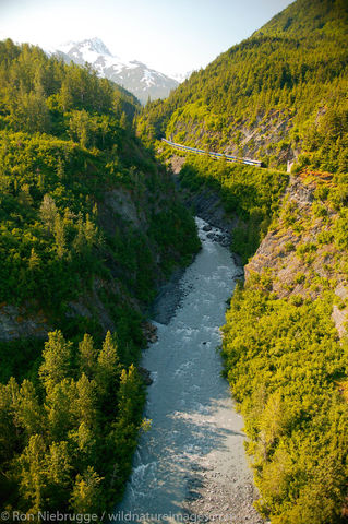 Alaska Railroad Passenger Train