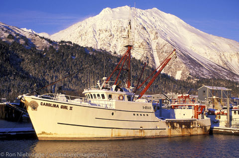 AK, Ak., Alaska, Alaskan, America, American, Americas, Boat Harbor, Carolina Girl, Carolina Girl II, Kenai Peninsula, Niebrugge...