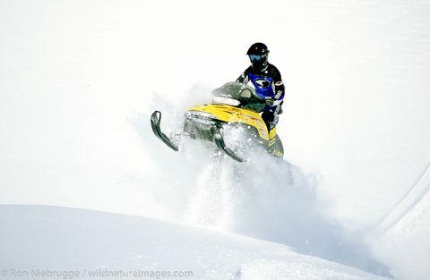 Snowmobile riding, Lost Lake - Jake