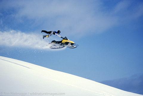 Snowmachine riding Lost Lake - Jake