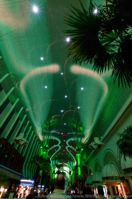 Laser light show on Fremont Street, in Downtown