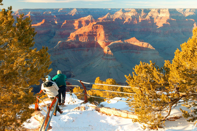 Grand Canyon with snow.