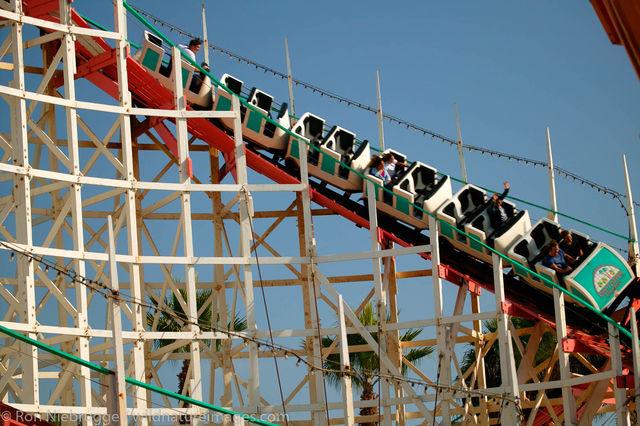 Wooden rollercoaster, Belmont Park