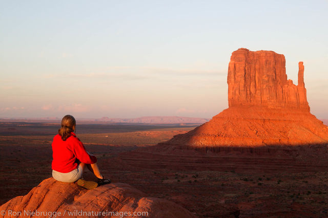 Visitor at Monument Valley