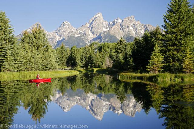 Kayaking in the Tetons