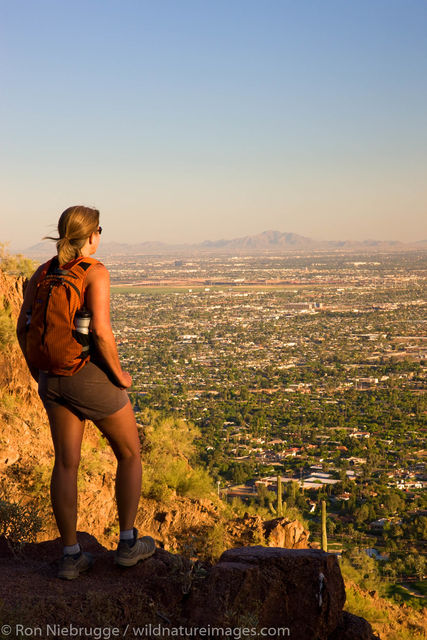 Hiker on Camelback Mountain