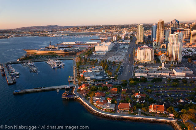 Seaport Village and the Embarcadero Marina Park