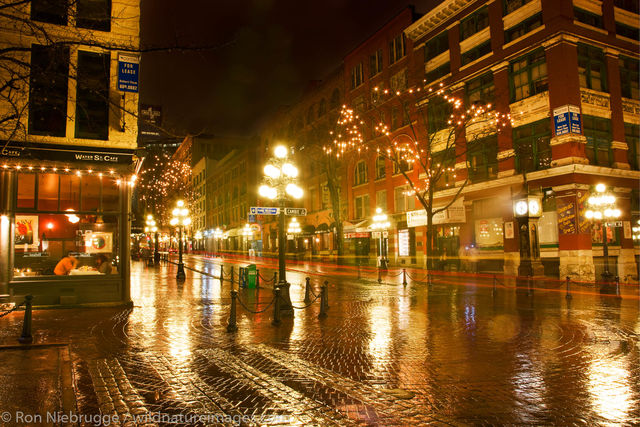 Gastown area at night
