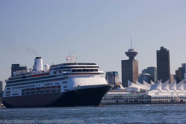 Cruiseship in Vancouver, Canada