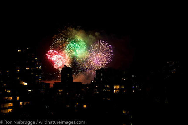 Fireworks, Vancouver, Canada