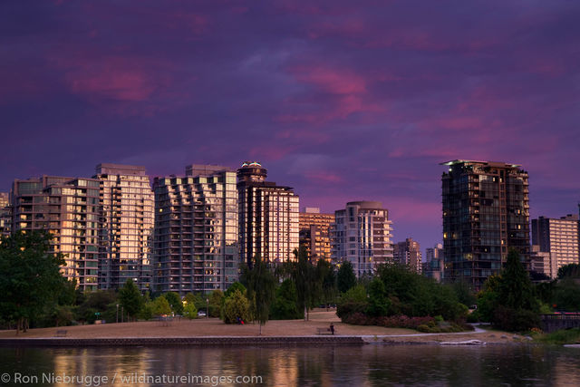 Coal Harbour at sunset