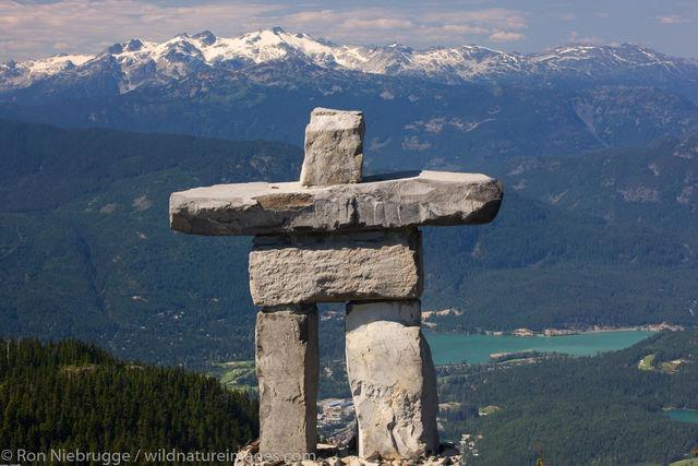 Inukshuk rock statue
