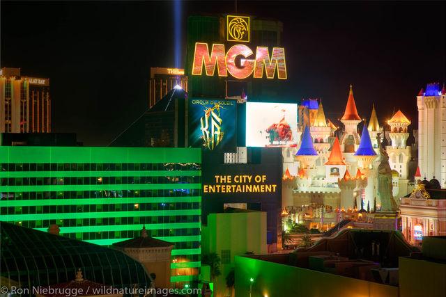 Casinos at night
