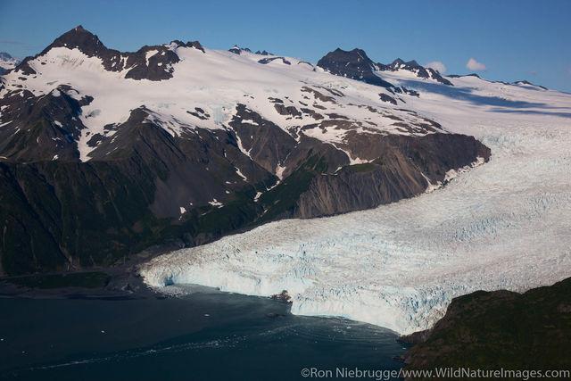 Aerial of Aialik Glacier