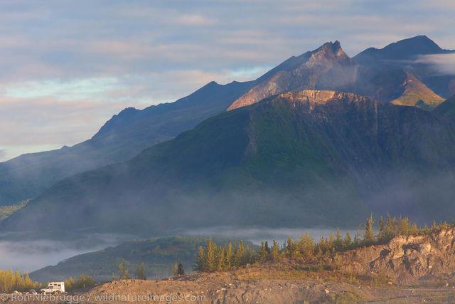 Camping near Matanuska Glacier
