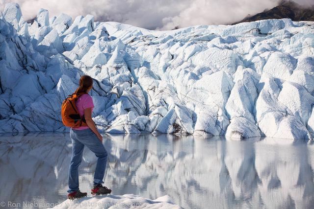 Hking on the Matanuska Glacier