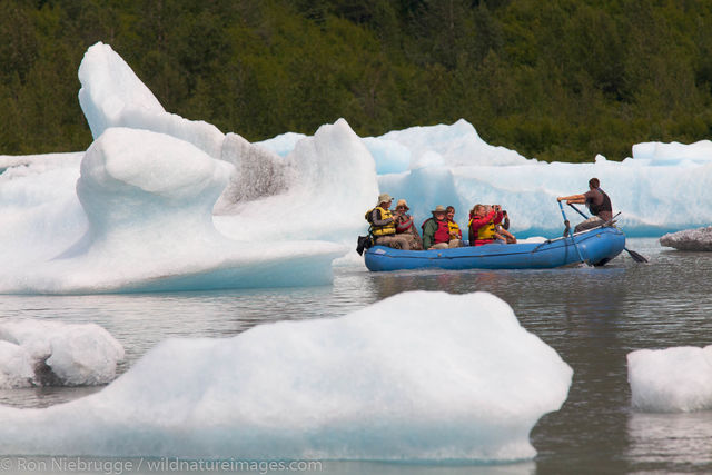 Rafting at the Spencer Glacier