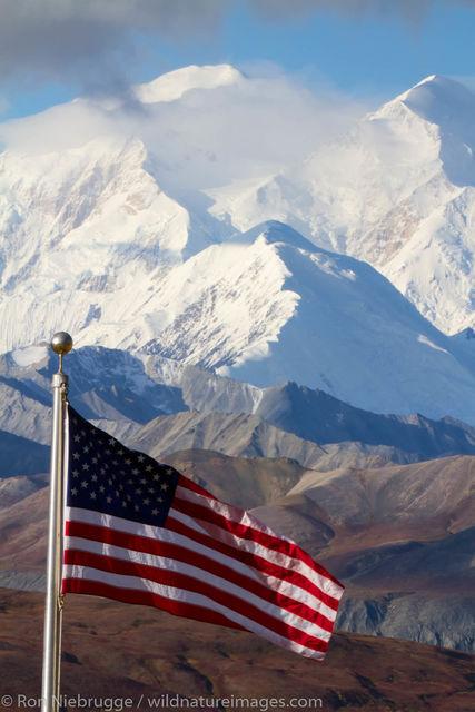 American Flag, Denali National Park