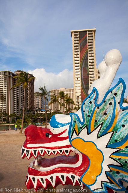 Kayaks along Waikiki, Honolulu, Hawaii