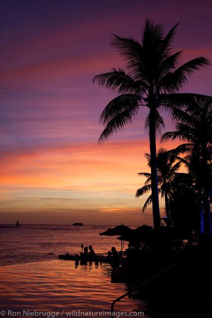 Sunset, Waikiki Beach