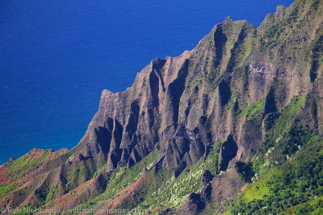 Aerial of Na Pali Coast