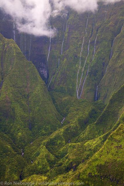 waterfalls, Kauai, Hawaii