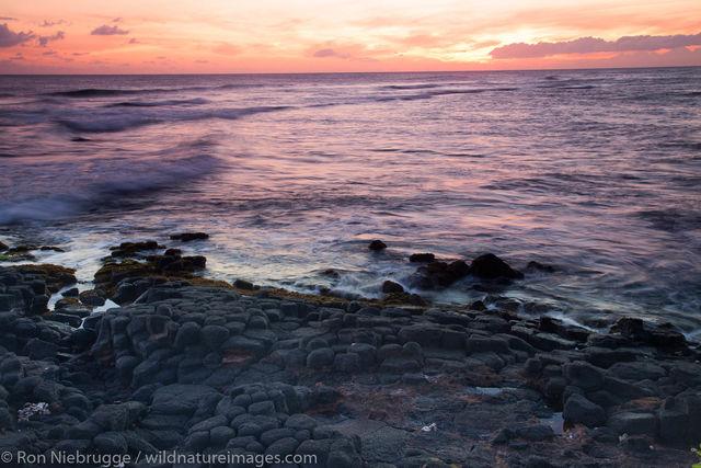 Sunset at Lawai Beach, Kauai, Hawaii
