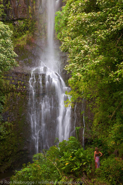 Wailua Falls, near Hana, Maui, Hawaii