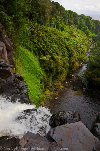 Makahiku Falls , near Hana, Maui, Hawaii