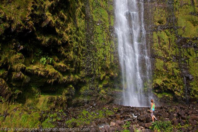 at Waimoku Falls, Maui, Hawaii
