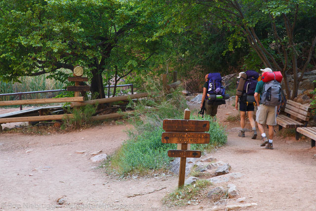 Hikers at Indian Garden