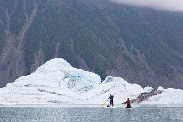SUP in Bear Glacier Lagoon