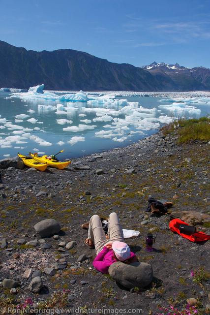 Kayaks, Bear Glacier Lagoon