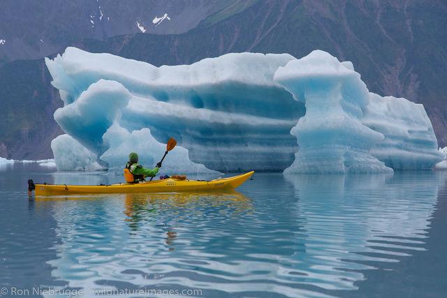 Kayaking in Bear Glacier Lagoon